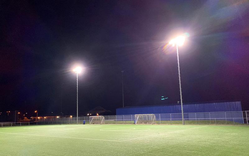 Kwalitatieve GEWISS LED verlichting sportveld