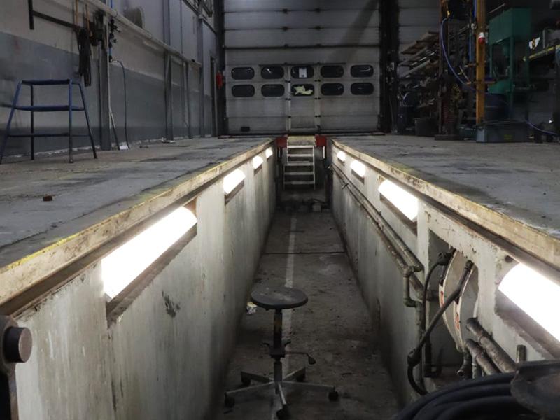 Verlichting voor transportbedrijf smeerput