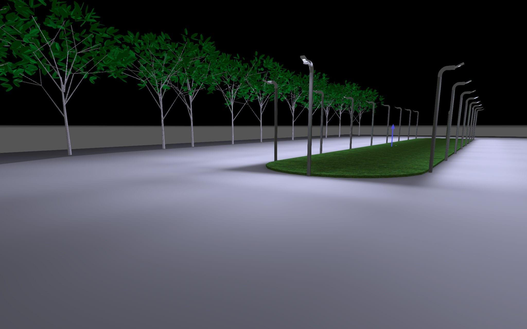 Verlichting voor een schaatsbaan